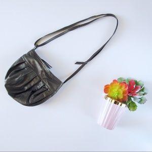 Handbags - Vintage Olive Leather Side Body Purse
